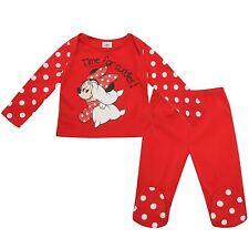DISNEY BABY pyjama bébé MINNIE 2 pièces 0-3 / 6-9 ou 9-12 mois rouge NEUF