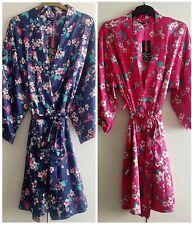 Ladies Satin Dressing Gown/Robe Uk Sizes 10/12, 14/16, 18/20