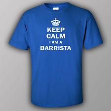 Funny T-shirt KEEP CALM I AM A BARISTA coffee bartender drinks