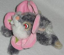 Disney Bambi Bunny Rabbit Thumper w/ Pink Crinkle Flower Floppy Bean Plush Toy
