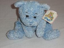 """Snuggie Toy Baby Blue Plush & Bean Stuffed Floppy Teddy Bear Stitched Eyes 14"""""""