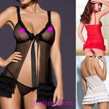 Camisa de la muñeca mujer + tanga conjunto lencería sexy DL-928