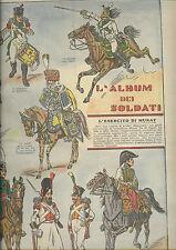 CORRIERE DEI PICCOLI anni 30 esercito di Murat  napoleonici soldatini napoleone