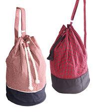 SugarShock Tilda Gingham Seesack Tasche Kitback Rockabilly Duffel Bag Rucksack