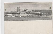 Hudson River Dayline Albany Ship Boat UDB Postcard