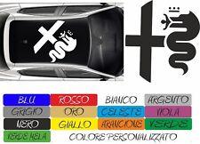 ADESIVO TETTO ALFA ROMEO RACING GIULIETTA MITO 147 156 STICKERS CAR AUTO COD162