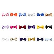 New Mens Satin Pre Tied Bow Ties Wedding Party Fancy Plain Necktie tie Bow ties