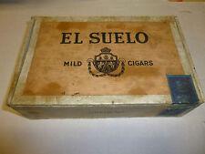 Vintage El Suelo Mild Cigar Box Circa 1940s Nice Complete.