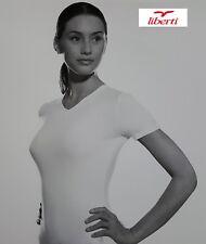 LIBERTI. 2x Maglia intima, T-shirt, Donna, manica corta. 05983. Lycra e Cotone.