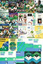 Irlande/France Rugby programmes 1961 - 2015 Inc 63 67 69 71 72 73 77 79 81 83