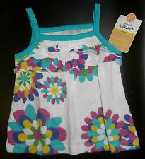 NWT: New Carter's Blue & Pink Flower Summer Shirt, 12 mo, 18 mo, 3T
