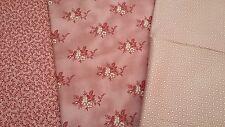 NUOVO-Savannah Classics - 100% COTONE-floreale/Polka Dot Designs-Rosa/Crema/Rosso Toni