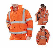 WARNSCHUTZ Pilotenjacke 5XL Arbeitsjacke orange Warnschutzjacke Warnjacke NL