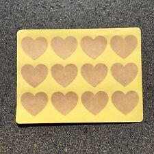 Blank Love Heart Stickers | Kraft | BL300