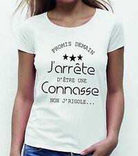 T-shirt FEMME J'ARRETE D'ETRE UNE CONNASSE