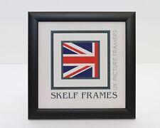 SKELF FRAMES - MATT BLACK WOOD ~ SQUARE ~ PICTURE PHOTO POSTER FRAME