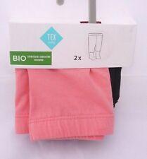 TEX lot de deux leggings coton bio coloris au choix 6 ou 9 mois bébé fille