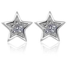 Ohrstecker Stern Kristalle von Swarovski® Gold od. Silber NOBEL SCHMUCK