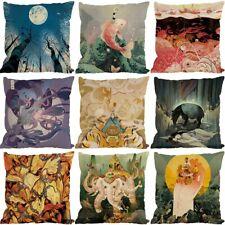 "18"" Fantasy style Cotton Linen Square Home Decorative Pillow Case Cushion Cover"