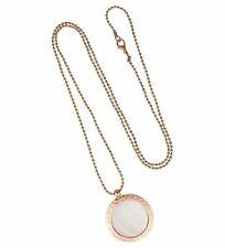 Halskette mit Muschelkern 80 cm, roségold o. silber