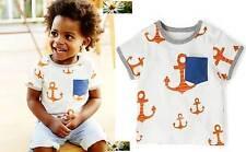 BIMBO BAMBINI ANCORAGGIO cotone stampato top t-shirt nuova età 0 mesi - 3 anni