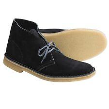 Clarks Originals Men's  Black/Grey Desert Suede Boots 63292