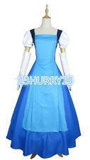 New! Steven Universe Jail Break Sapphire Blue Gown Dress Cosplay Costume#23