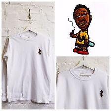 Realidad ODB X Charlie Brown Wutang Clan Bordado Hip Hop Sudadera Blanca