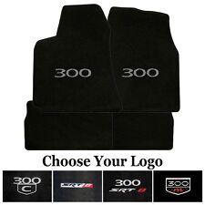 Chrysler 300 Carpet Floor Mats - 4 Piece Set in Ebony - Your Choice of Logo