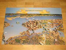 "NEW YORK CITY MARATHON POSTER "" SKYLINE "" ORIGINAL PLAKAT NYC WTC NEU MINT RAR"