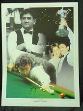 Joe Johnson Signed Snooker Large Photograph
