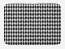 """Black and Grey Bath Mat for Bathroom Home Decor Plush Non-Slip Mat 29.5"""" X 17.5"""""""