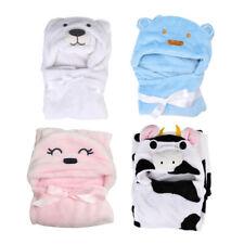 Baby Boy Girl Bath Towel Hooded Cuddle Robe Soft Velvet Animal Cartoon Toddler
