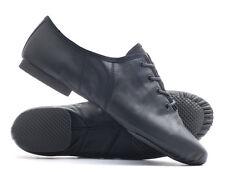 Black PU Lace Up Rubber Split Sole Jazz Dance Practice Shoes Katz All Sizes