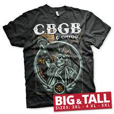 Officially Licensed CBGB- Statue of Underground Rock 3XL,4XL,5XL Men's T-Shirt