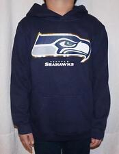 NWT Seattle Seahawks NFL Youth Primary Logo Fleece Hoodie Sweatshirt