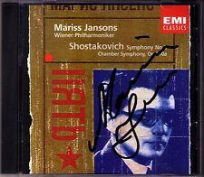 Marris JANSONS Signed SHOSTAKOVICH Symphony No.5 Chamber Sym CD Schostakowitsch