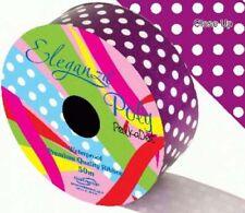Purple Polka Dot Printed Florist Poly Ribbon  - wedding cars,bows,presents