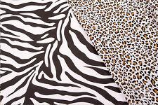 Cebra O Leopardo-Impreso Tela polycotton-anchura 112 Cm-Uk Libre P & P
