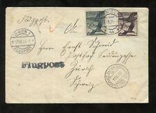 AUSTRIA 1926 AIRMAIL STAMPS 50g + 30g to SWITZERLAND