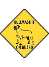Warning! Bullmastiff On Guard Aluminum Dog Sign and Sticker