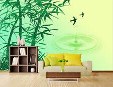 3D Vert Bambou 51 Photo Papier Peint en Autocollant Murale Plafond Chambre Art