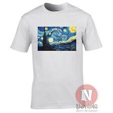Van Gogh Starry night t-shirt Aesthetic vapourwave tumblr blogger tshirt tee