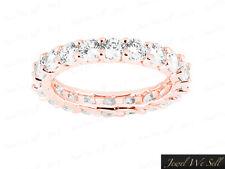 Genuine 2.25Ct Round Diamond Shared Prong Eternity Wedding Ring 18K Gold F VS1