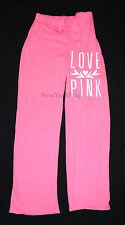 VICTORIA'S SECRET LOVE PINK SWEATPANTS Boyfriend Fit Pants Sweats White Pockets