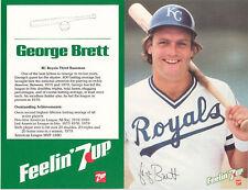 1981 George Brett Royals 7up Promo baseball card