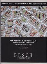 Catalogue vente aux enchères ART CONTEMPORAIN + LES GRANDS MAITRES PROVENÇAUX