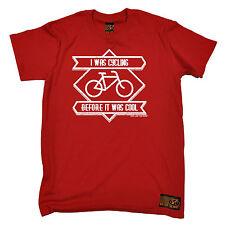 Estaba ciclismo antes de que era Cool Camiseta andar en bicicleta Camiseta Gracioso Regalo De Cumpleaños
