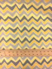 "2+ yds x 61.5"" CHEVRON ZIG ZAG Fleece Print - Gray/Yellow/Dark Gray/Dark Yellow"
