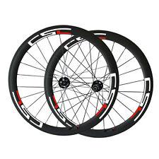 CSC 700C Disc Brake Hub 50mm Tubular Carbon Bike Wheelset 20.5mm 23mm 25mm Width